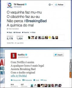 Breaking Bad na Netflix e Record